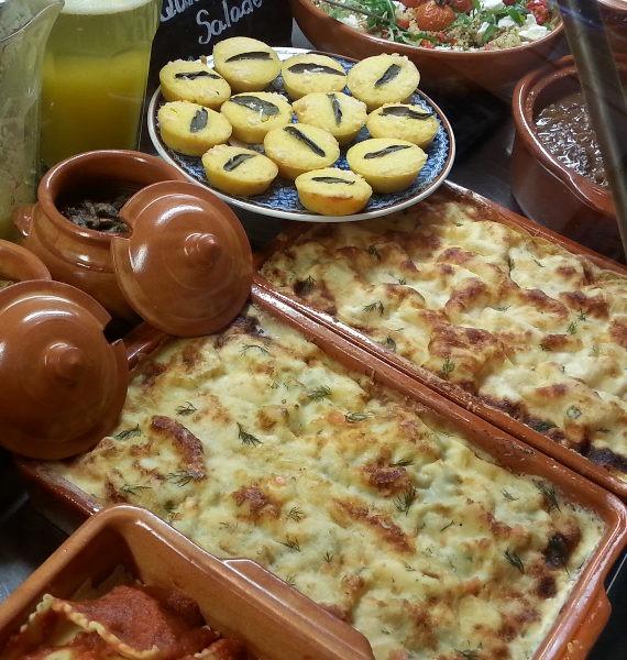 lasagna con ragu als avond eten